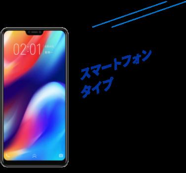 スマートフォンタイプ(jetfon S20i NTTMモデル)
